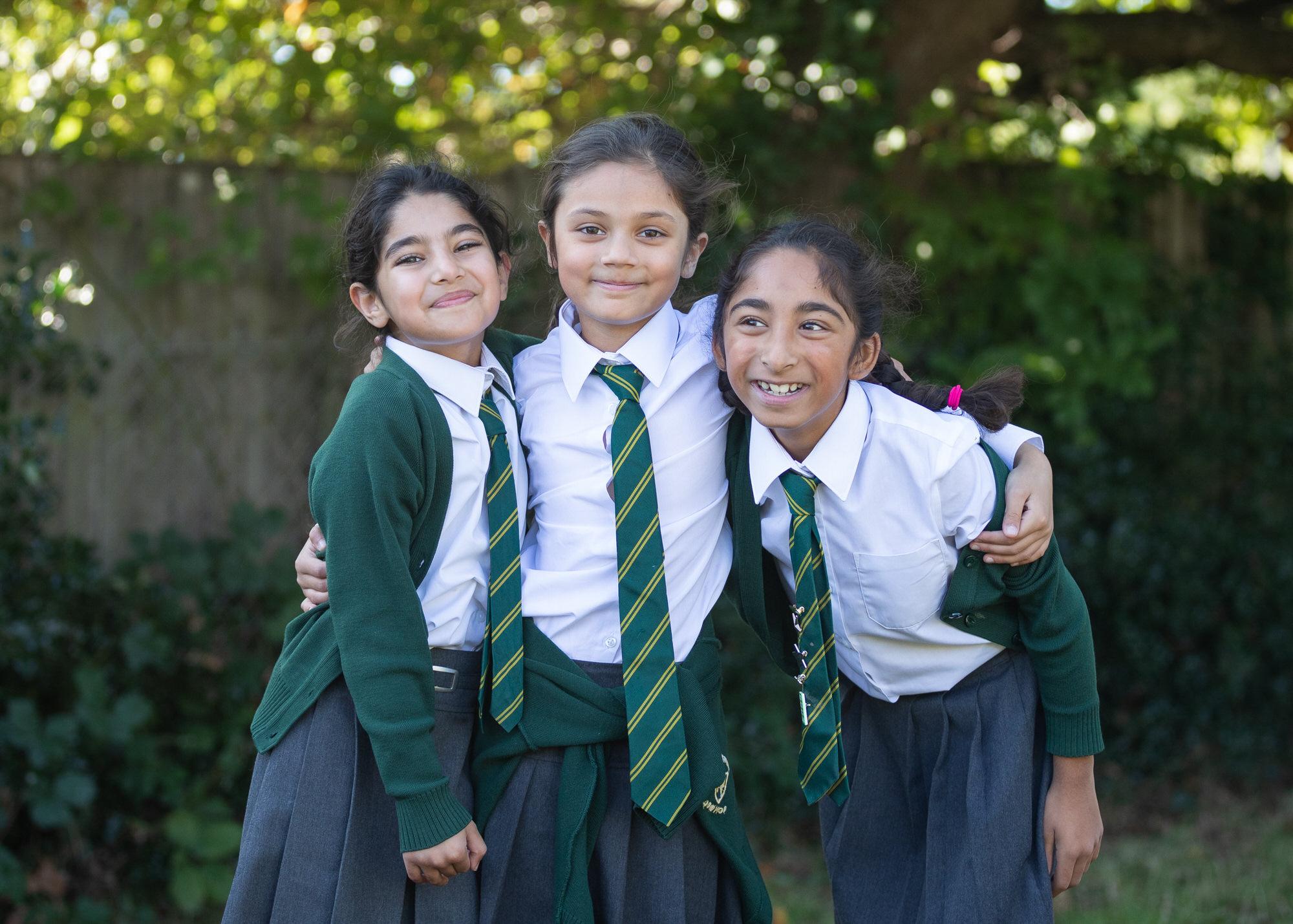 children posing, , photographed by Hertfordshire school photographer Alannah Hebbert