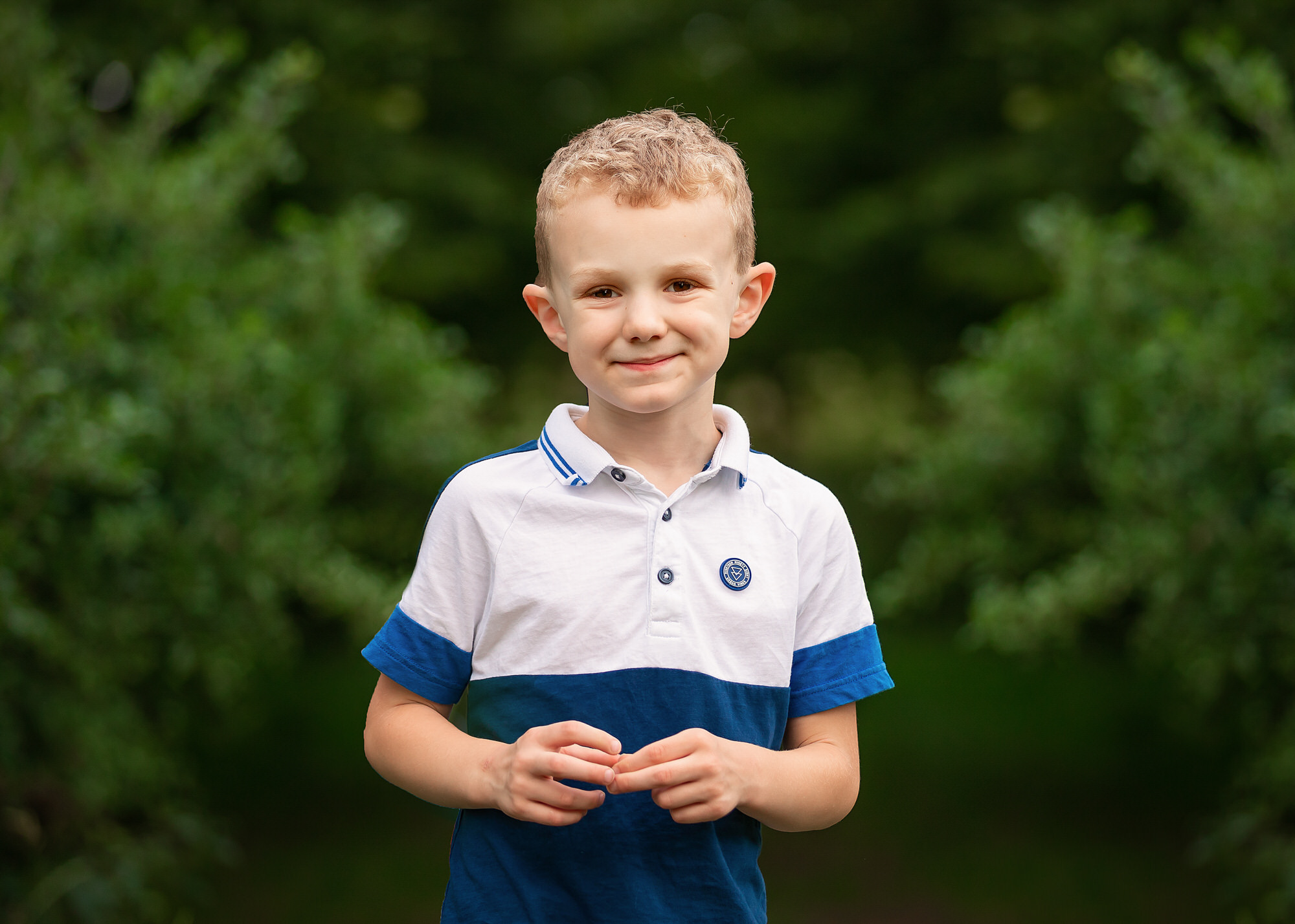 a boy posing, photographed by a Stevenage family photographer